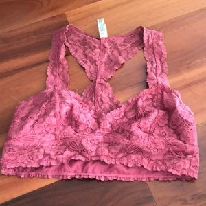 Free people lace bralette racer back